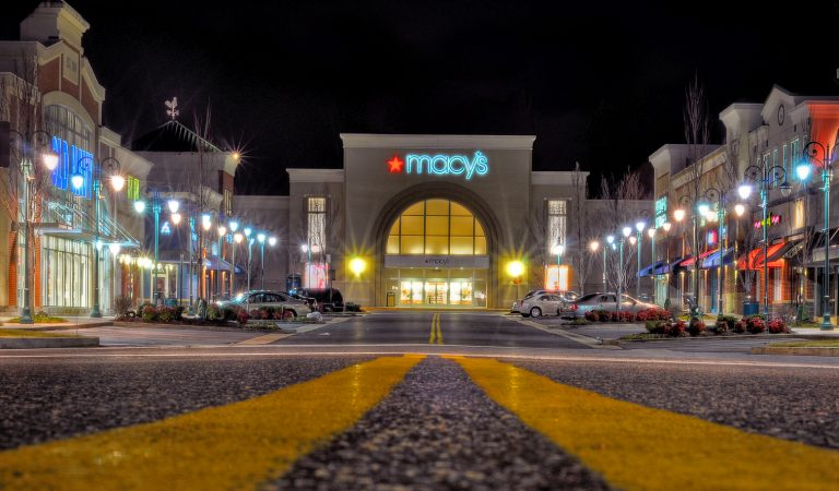 Night view of Macy's not far from The Bowen